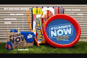 Tyson Foods – Ball Park Brand #summernow – Win a kit full of summer essentials an inflatable splash pool