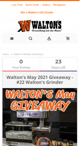 Walton's – May Giveaway Sweepstakes