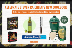 Workman Publishing – Celebrate The Release Of Steven Raichlen's New Cookbook – Win one (1) copy of How to Grill Vegetables by Steven Raichlen
