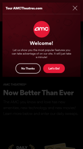 Amc Theaters – Better Than Ever – Win – One (1) year AMC Stubs A-List Gift Membership