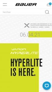 Bauer – Hyperlite – Win one HYPERLITE Prize Kit which will include 1) one pair of BAUER HYPERLITE Skates
