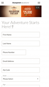 Bluegreen Vacations – Your Adventure Starts Here Sweepstakes