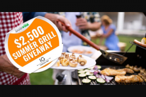 Bob Vila – $2500 Summer Grill Giveaway – Win one prize package from
