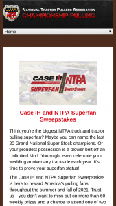 Case Ih And Ntpa – Superfan – Win a Case IH banner ARV up to $50 signed by NTPA competitors