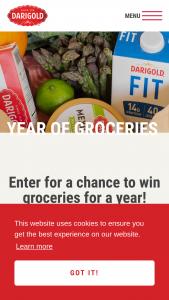 Darigold – Year Of Groceries – Win a $5200 grocery gift card ($100 per week