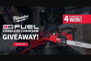 Do It Best – Milwaukee M18 Fuel Cordless Chainsaw Giveaway – Win includes Milwaukee M18 FUEL 16″ 18V Lithium Ion Cordless Chainsaw Kit
