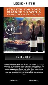 Don Sebastiani & Sons – Leese-Fitch Summer  – Win a Traeger Pro 575 Pellet Grill