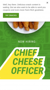 Farm Rich – Chief Cheese Officer Contest Sweepstakes