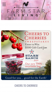 Farm Star Living – Cheers To Cherries Sweepstakes