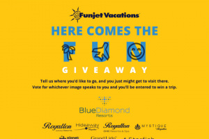 Funjet Vacations – Here Comes The Fun Giveaway – Win One standard hotel room for two adults for five nights at Planet Hollywood Adults Scene Cancun Roundtrip transfers to and from the airport and resort
