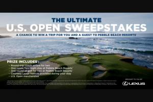 Golf Digest – Ultimate Lexus Us Open Sweepstakes