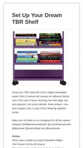 Harpercollins – Book Nook – Win $841.77 Estimated retail value total prizes $841.77