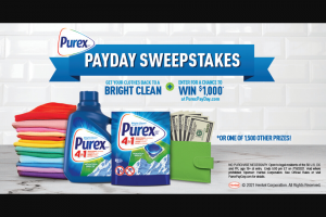 Henkel Purex – Payday – Win A Sponsor specified $1000 Gift Card