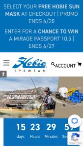 Hobie Eyewear – National Sunglasses Day Giveaway – Win a Hobie® Eyewear premium polarized sunglass of their choosing