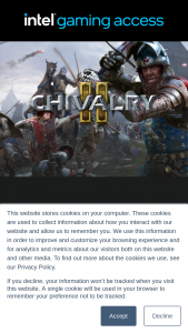 Intel – Chivalry 2 – Win 1 of each notebook and chivalry 2 game
