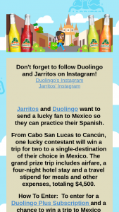 Jarritos – Duolingo Sweepstakes