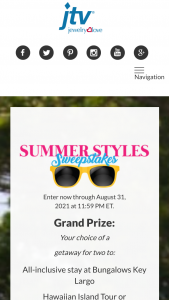 Jewelry Television Jtv – Summer Styles Sweepstakes