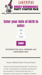 Lagunitas – Doggy Boondoggle Party Starter Pack Contest – Social Media – Win A $300 VISA gift card to purchase items for your party
