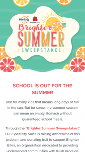 Lgs Specialty Sales – Brighter Summer Sweepstakes
