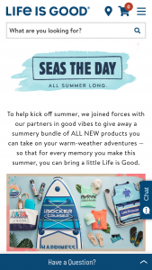 Life Is Good – Seas The Day Giveaway Sweepstakes