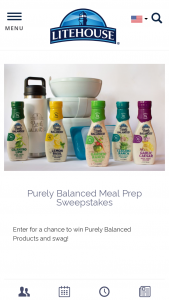 Litehouse – Purely Balanced Meal Prep Sweepstakes