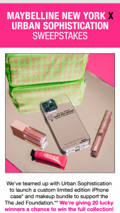 Maybelline – Urban Sophistication – Win a selection of Maybelline New York product