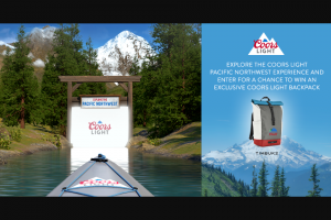 Molson Coors – Coors Light Pacific Northwest Summer Backpack Sweepstakes