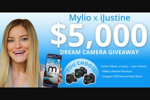 Mylio – Ijustine $5000 Dream Camera Giveaway Sweepstakes