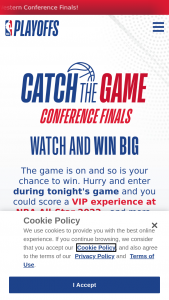 Nba – Catch The Game Sweepstakes