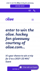 Olive – Hockey Fan Giveaway Sweepstakes