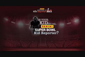 Panini – Super Bowl Kid Reporter Sweepstakes