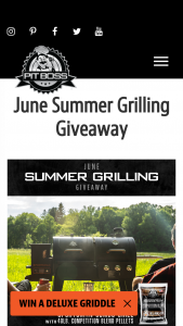Pit Boss Grills – June 2021 Giveaway – Win the 1 of the Grand Prize as follows  Pit Boss Sportsman Pellet/Gas Combo Grill