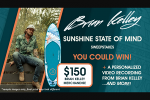 Premiere Networks – Brian Kelley Sunshine State Of Mind Sweepstakes