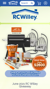 Rc Willey – June Giveaway Sweepstakes