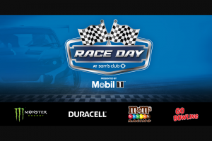 Retail Sports Marketing – Race Day At Sam's Club – Win (1) of the (10) available prizes listed below