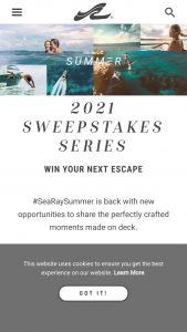 Sea Ray – Summer Photo – Win a vacation voucher with an approximate retail value of $4000 to be redeemed by October 1 2022.