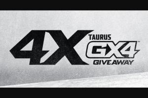 Shoot-On – 4x Taurus Gx4 Giveaway Sweepstakes