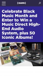 Siriusxm – Black Music Month Sweepstakes