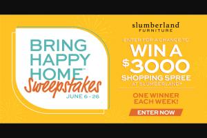 Slumberland Furniture – Bring Happy Home Sweepstakes