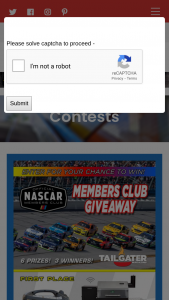 Tailgater – Nascar Exclusive Members Only Giveaway Sweepstakes