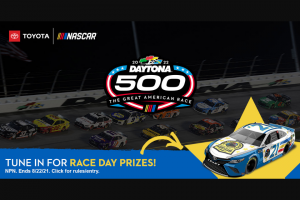 Teamdigital s – Nascar Kids 500 Promotion – Win for winner and up to three (3) guests to attend the 2022 DAYTONA 500® race at Daytona International Speedway