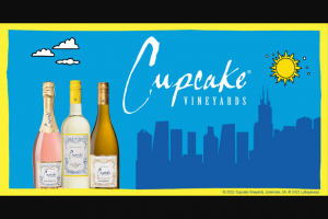 """The Wine Group – Cupcake Vineyards National – Win which will consist of two (2) 4-day VIP tickets for winner and one guest to attend the Lollapalooza music festival (""""Lollapalooza"""") in Chicago IL from July 29 2021 through August 1 2021."""