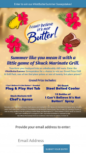 Upfield I Can't Believe It's Not Butter – Not Butter Summer Sweepstakes