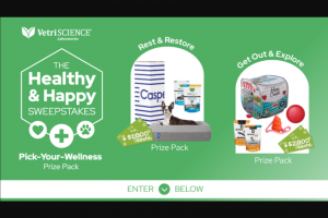 Vetriscience Laboratories – The Healthy And Happy – Win & Restore Prize Pack