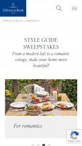 Villeroy And Boch USA – Style Guide – Win one (1) of the prize packs  Prize Pack Prize Details Approximate Retail Value  1 1 x French Garden Fleurence 12-piece dinner set