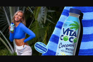 Vita Coco – Sports Illustrated Swimsuit Photoshoot – Win Airlines gift card