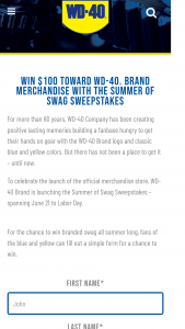 Wd-40 Company – Summer Of Swag Sweepstakes