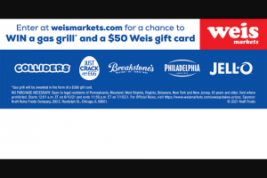 Weis – June Dairy Month Sweepstakes