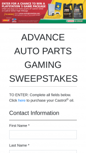 Advance Auto Parts – Gaming – Win consisting of a Gaming Bundle to include a PlayStation 5 console an additional wireless controller and a 12-month PlayStation Plus membership