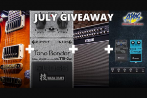 American Musical Supply – PRS Guitars/boss Giveaway Sweepstakes